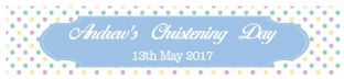 Multicolour Blue Christening Banner